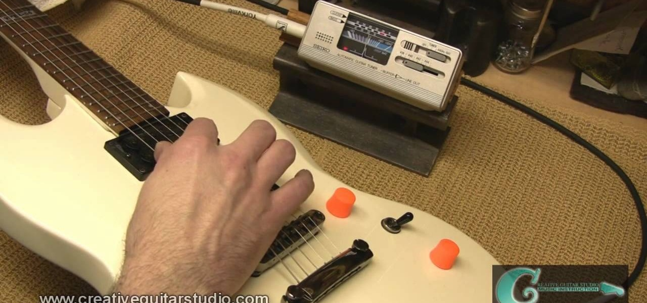 how to set intonation on a gibson style fixed bridge electric guitar wonderhowto. Black Bedroom Furniture Sets. Home Design Ideas