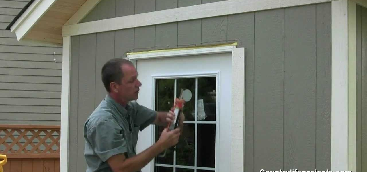 How to build a shed part 15 installing exterior wood - What type of wood for exterior trim ...