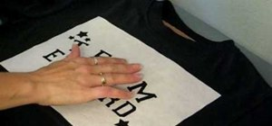 Stencil a t-shirt with a custom freezer paper stencil