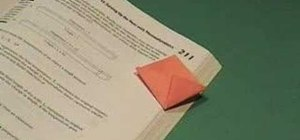Origami a bookmark