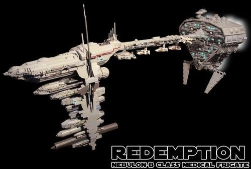 "Star Wars LEGO-gasm: 4' 6"" Rebel Frigate"