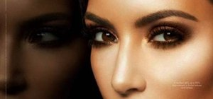 Create a bronzy smokey eye inspired by Kim Kardashian