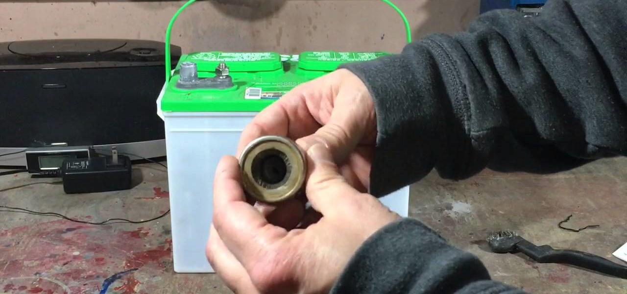 Clean Car or Truck Battery Terminal Posts from Corrosion and Acid