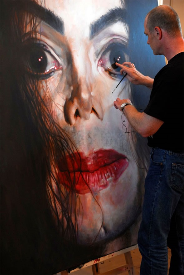 Realist Painter of the Hollywood Stars (Yes, Those Are MJ's Spooky Eyes)