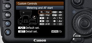 Customize operations on the Canon EOS 7D