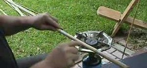 Straighten a cane to build an atlatl