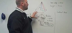 Find the surface area of a pyramid with BabelMath