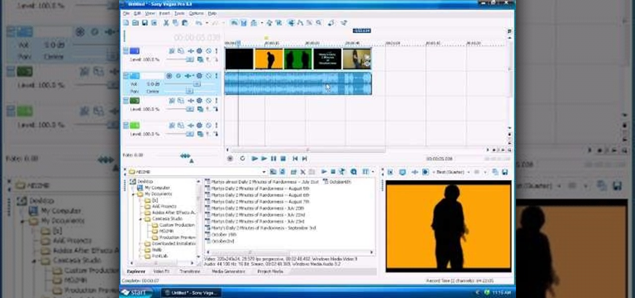 sony vegas how to use prerender