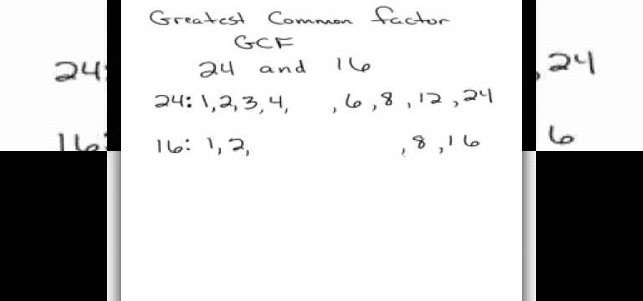 How To Find The Greatest Common Factor Or Gcf Of 2 Numbers Math