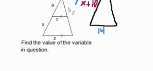 Find a missing part of a triangle, similar to another