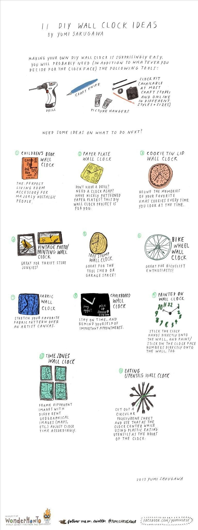 11 Creative Ideas for Making a Personalized DIY Wall Clock