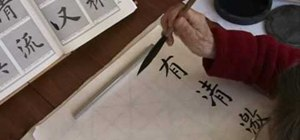 Practice elegant Chinese standing script calligraphy