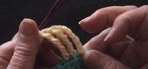 Crochet a triple treble stitch