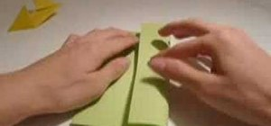 Make an origami shuriken throwing star