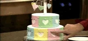 Make and decorate a heart fireworks tiered cake