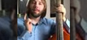 Play upright bass in Gb (Flat)