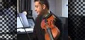Play a D major scale on the violin