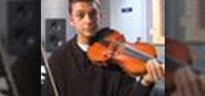 Play a G-major scale on the violin