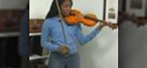 Practice third position on the violin