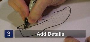 Draw a flat shoe