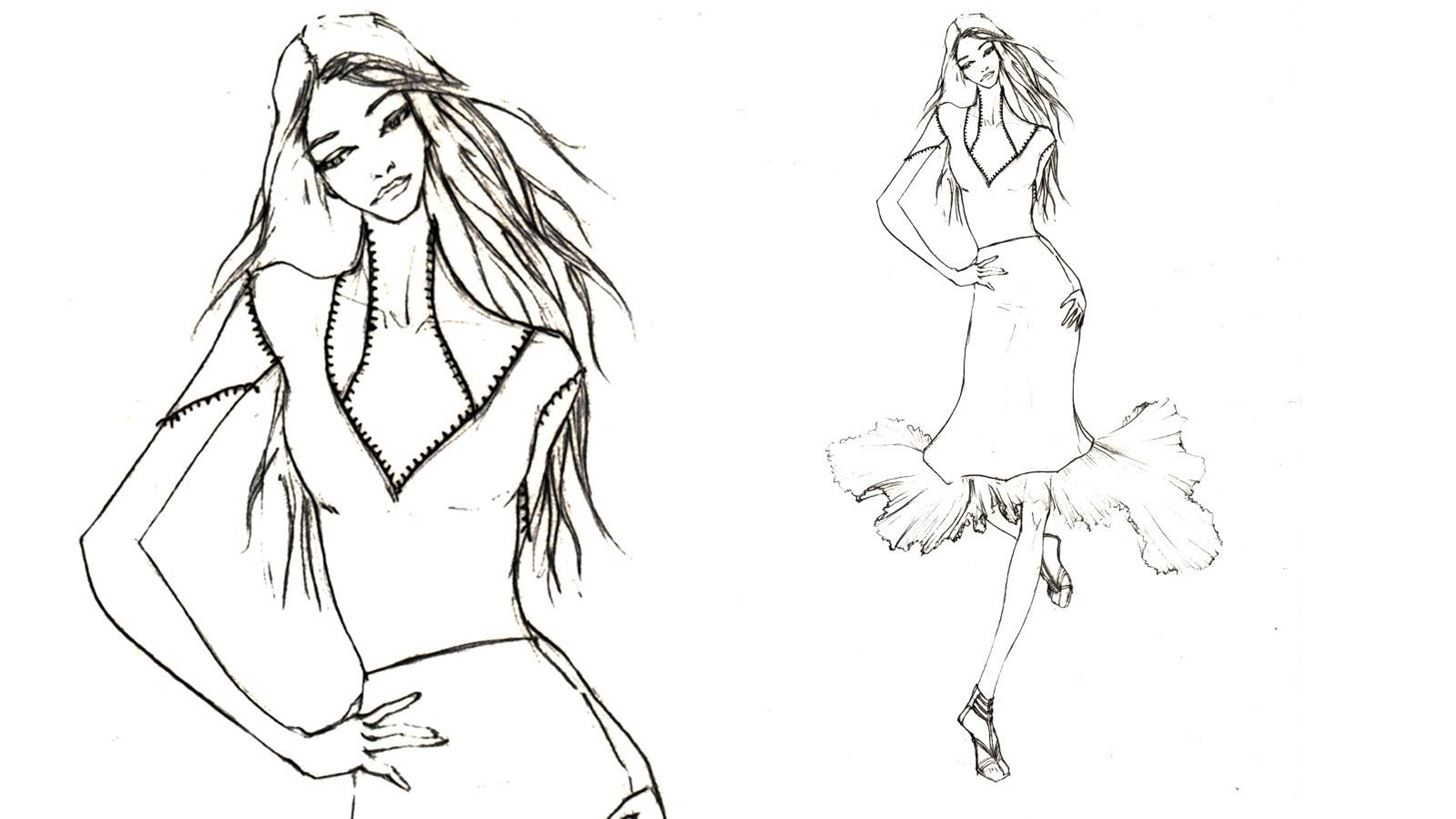 How to Draw a Fashion Design- Pleated Skirt
