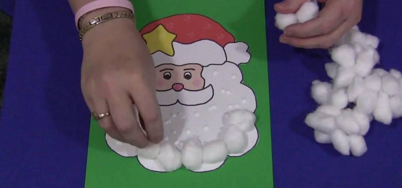 How to Make a cotton ball Christmas Santa with your kids « Christmas ...