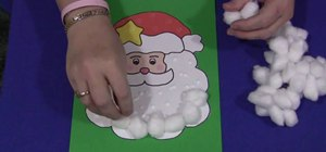 Make a cotton ball Christmas Santa with your kids