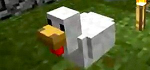Play Minecraft Beta and Spawn Chickens by Tossing Eggs