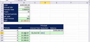 Build an amortization table for a consumer loan with Excel's PMT function