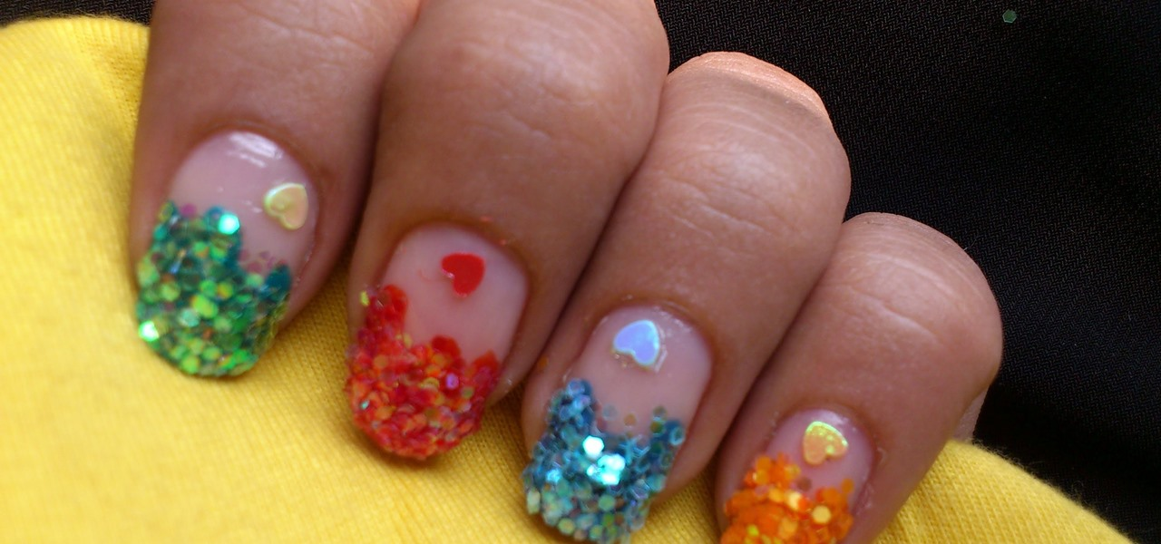 How To Do Sequin Nail Art Nails Manicure Wonderhowto