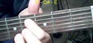 Play barre chords on the acoustic guitar