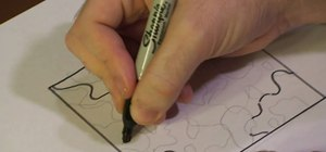 Draw a camouflage pattern