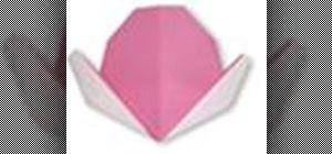 Origami a peach Japanese style