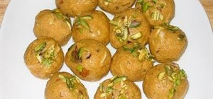Make Indian besan ladoo with Manjula