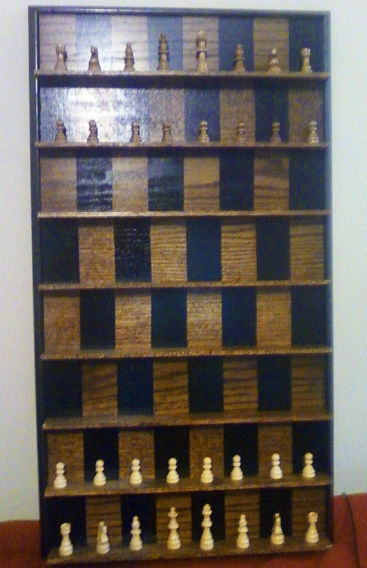 How To Make A Vertical Wall Mounted Chessboard Board