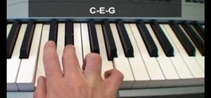 Play the major chords on your piano
