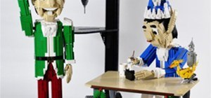 LEGO Christmas Elf Time lapse Build