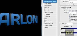 Make 3D text in Adobe Photoshop CS3/CS4