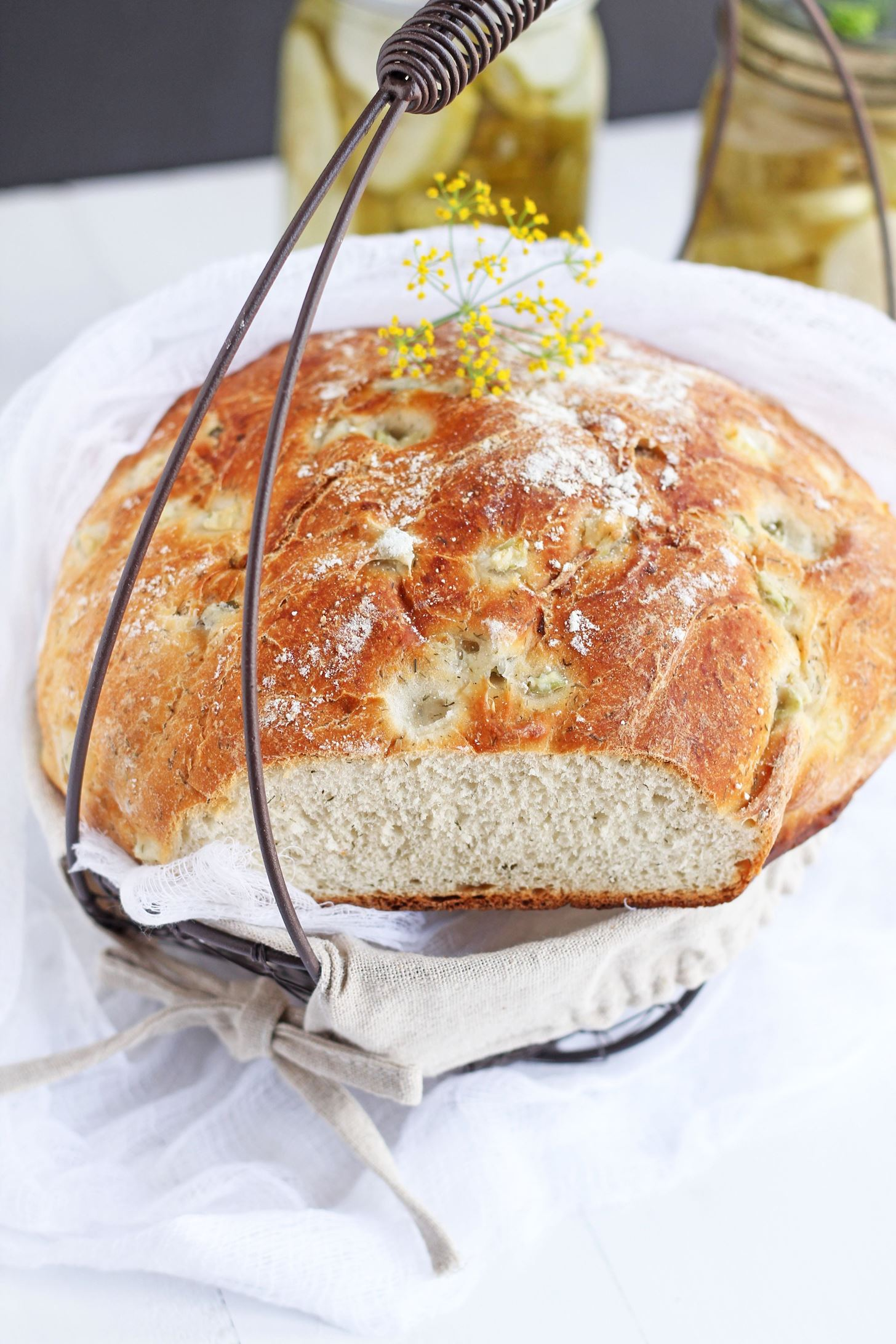 Use Leftover Pickle Juice When Making Dill Bread for Increased Flavor