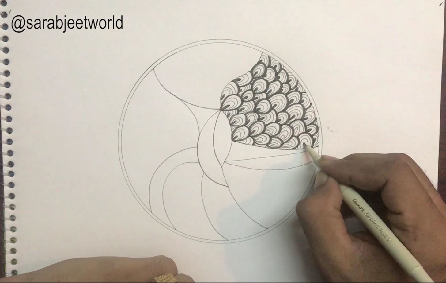 How to Draw Best Zentangle Tutorial for Beginners