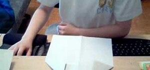 Origami a V-Glider paper airplane