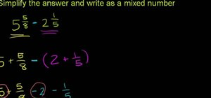 Subtract mixed numbers in basic mathematics