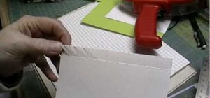 Make a lattice edge on a card