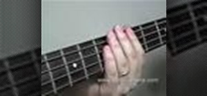 Play the double pluck technique on the bass