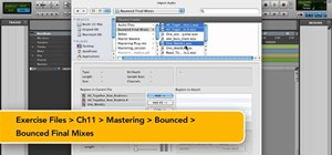 Set up a mastering session in Pro Tools 9