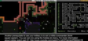 Defend your fortress with a basic military in Dwarf Fortress 2010