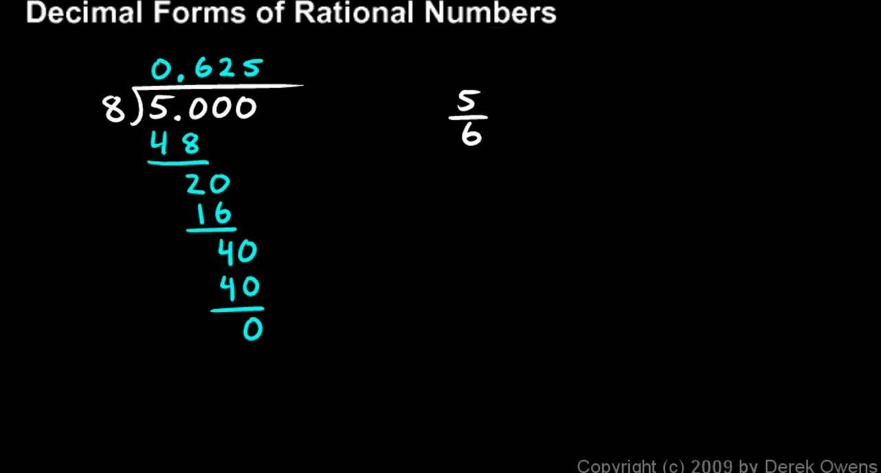 Get decimal forms of rational numbers - Part 1 of 5