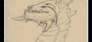 Draw a dragon creature