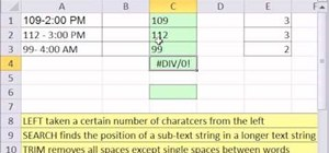Extract numbers from a text string with Excel's LEFT, SEARCH & TRIM functions