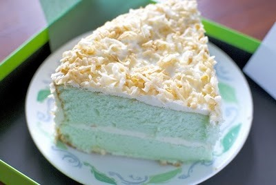 RECIPE: Pandan Angel Food Cake with Coconut Frosting